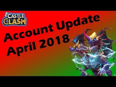Castle Clash   Account Update April 2018   Schloss Konflikt