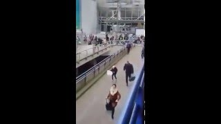 Video  People running for life after 2 Huge explosion at Brussels airport 22 March 2016