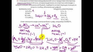 ЕГЭ 2017 по химии. Демо. Задание 22. Электролиз