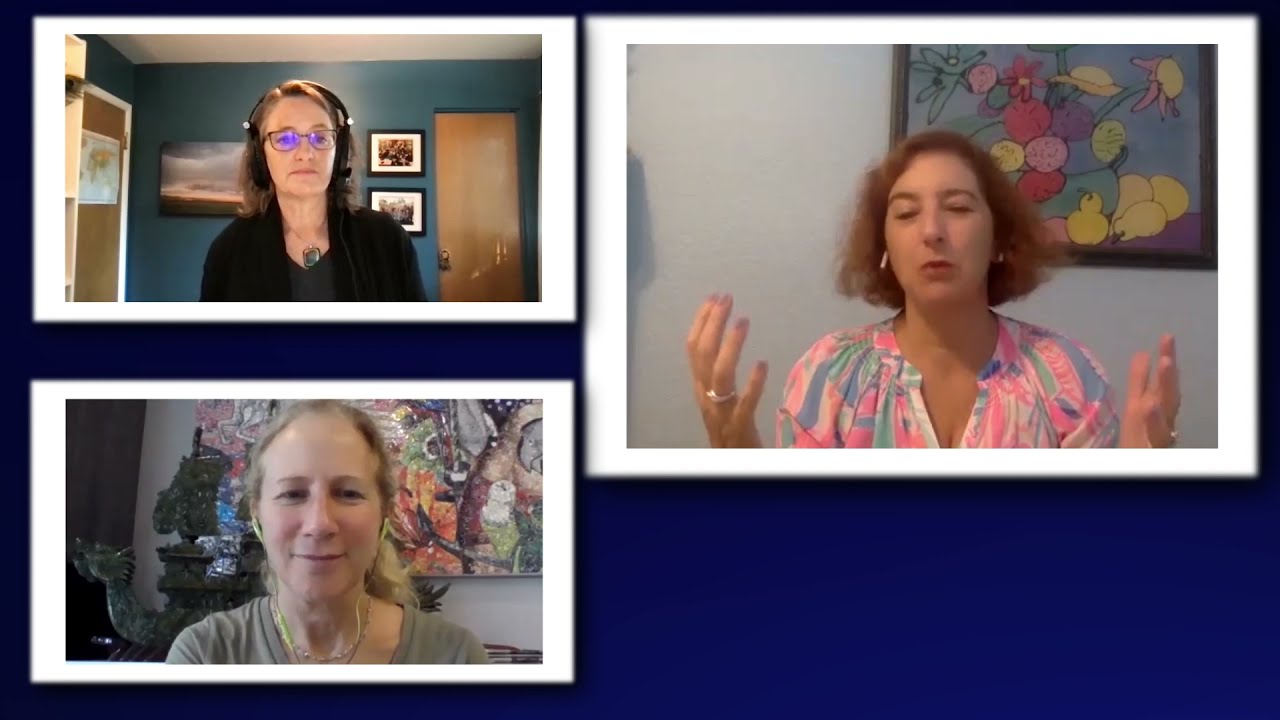 Look for the SPARKLE in their eyes! Amy, Margaret and Michelle share a great conversation!
