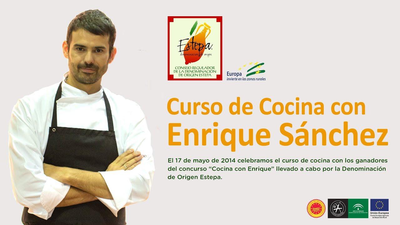Curso De Cocina Con Enrique Ofrecido Por La Denominación De Origen Estepa Youtube