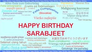 Sarabjeet   Languages Idiomas - Happy Birthday