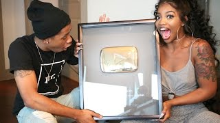 FINALLY RECEIVED OUR 1 MILLION SUBSCRIBERS PLAUQE!