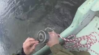 Поисковый магнит. Поиск магнитом с лодки