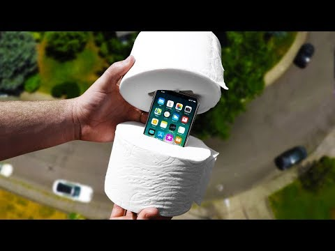 Can Toilet Paper Protect iPhone X from 100 FT Drop Test?