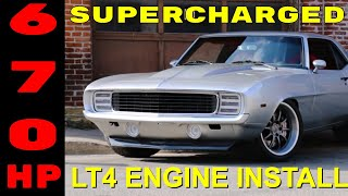 Pro-Touring 1969 Camaro Supercharged LT4 Swap Install Video V8TV PART 1 V8 Speed & Resto Shop