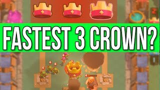 Clash Royale FASTEST THREE CROWN WIN | LOW COST CARD DECK STRATEGY