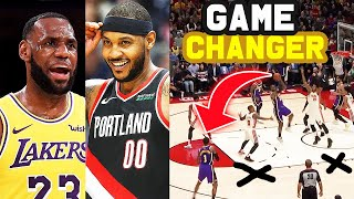 What We Learned From LeBron James & Anthony Davis vs. Carmelo Anthony & The Trailblazers