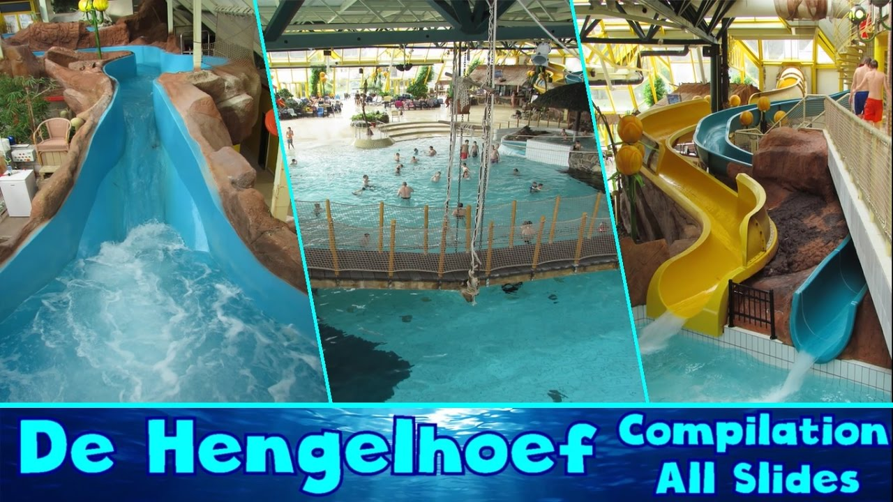 Awesome ALL WATER SLIDES At Swimming Pool De Hengelhoef 2017/2018!! [Compilation]