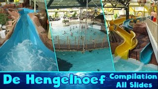 ALL WATER SLIDES at Swimming Pool De Hengelhoef!! [Compilation]