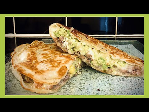 🆀🆄🅴🆂🅰︎🅳🅸🅻🅻🅰︎-recette-tortilla-à-la-viande/-fromage/-avocat-🥑