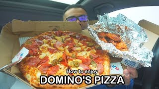 How to enjoy DOMINO'S PIZZA *MUKBANG