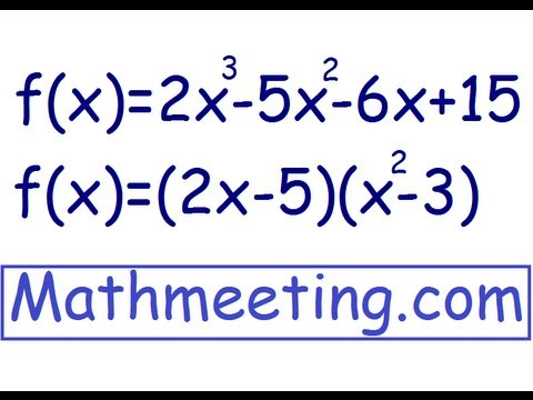 Factoring by Grouping