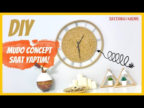 MUDO CONCEPT SAAT YAPIMI 🧭-KENDİN YAP VİDEOLARI/CREATIVE CLOCK MAKING IDEAS