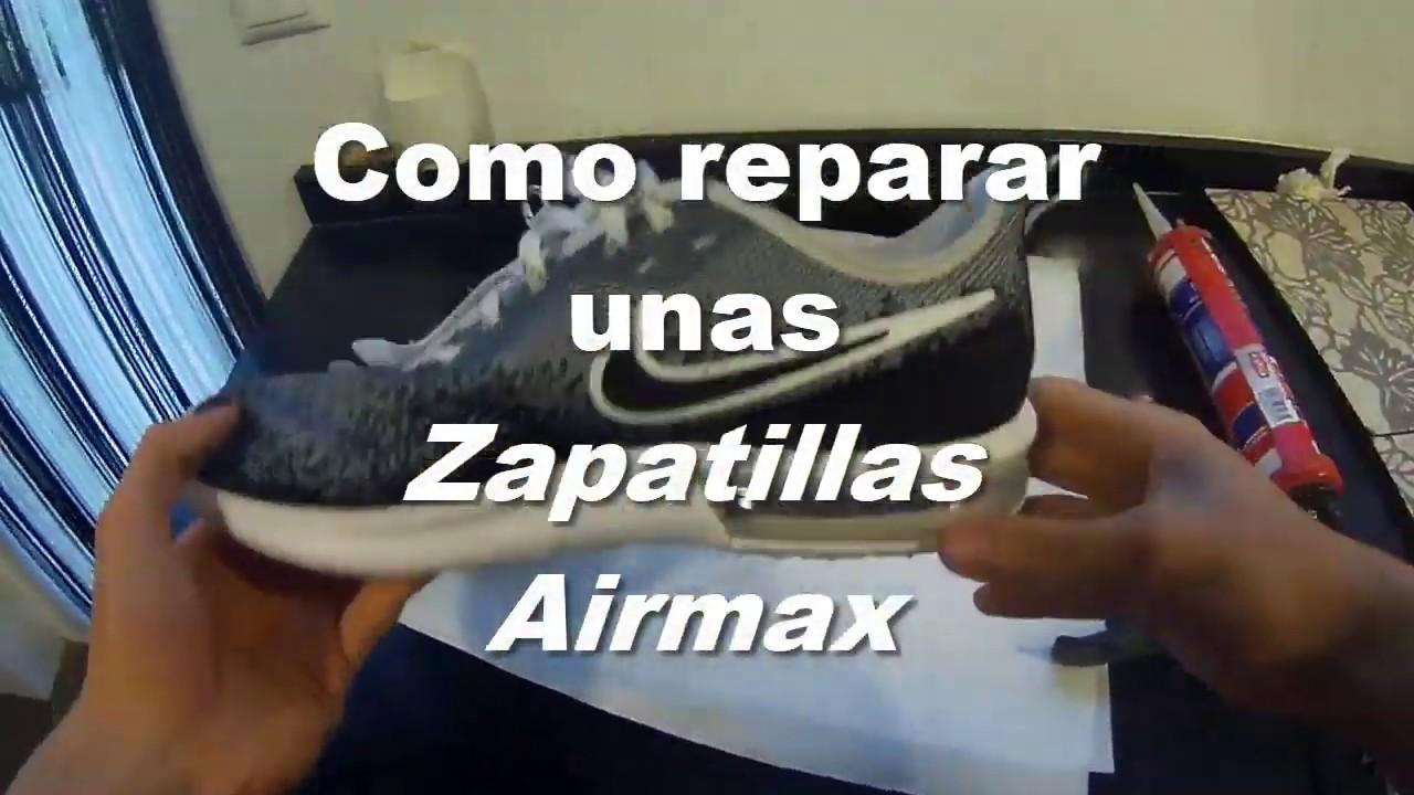 Ondular Querido Pila de  Como reparar unas Zapatillas Airmax Pinchadas | 2020 - YouTube