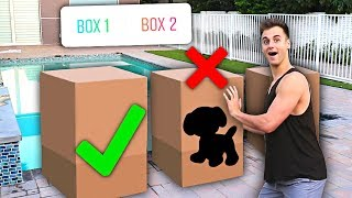 Don't Push The Wrong MYSTERY Box Into The Pool - Challenge