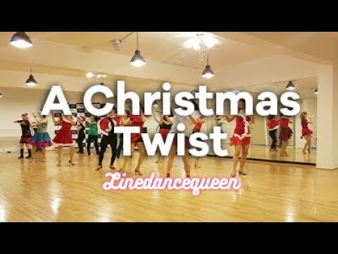 A Christmas Twist Line Dance (Junghye Yoon) Beginner Demo