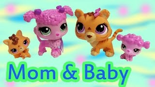 Lps Tiger Poodle Dog Mom Baby Sets Mommies Babies Bobblehead Littlest Pet Shop Review