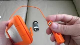 LaCie Rugged Thunderbolt Hard Drive Review Setup + Unboxing