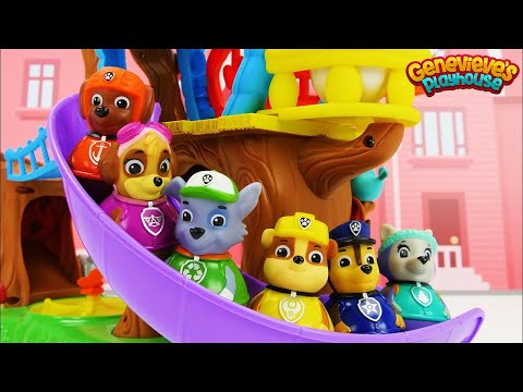 Thumbnail: Best Learning Video For Kids Paw Patrol Train and Weeble Treehouse Playset Colors & Ordinal Numbers