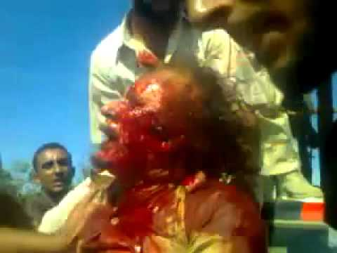 "Gaddafi Dead ""Moment of Capture""  Not Even Seen On TV HD"
