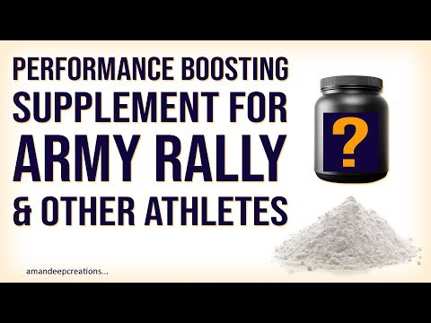 Creatine & Beta Alanine Performance Boosting Supplement for Army Rally & Other Athletes