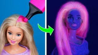 11 лайфхаков для куклы Барби / Причёски для Барби за минуту
