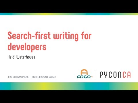 Image from Search-first writing for developers