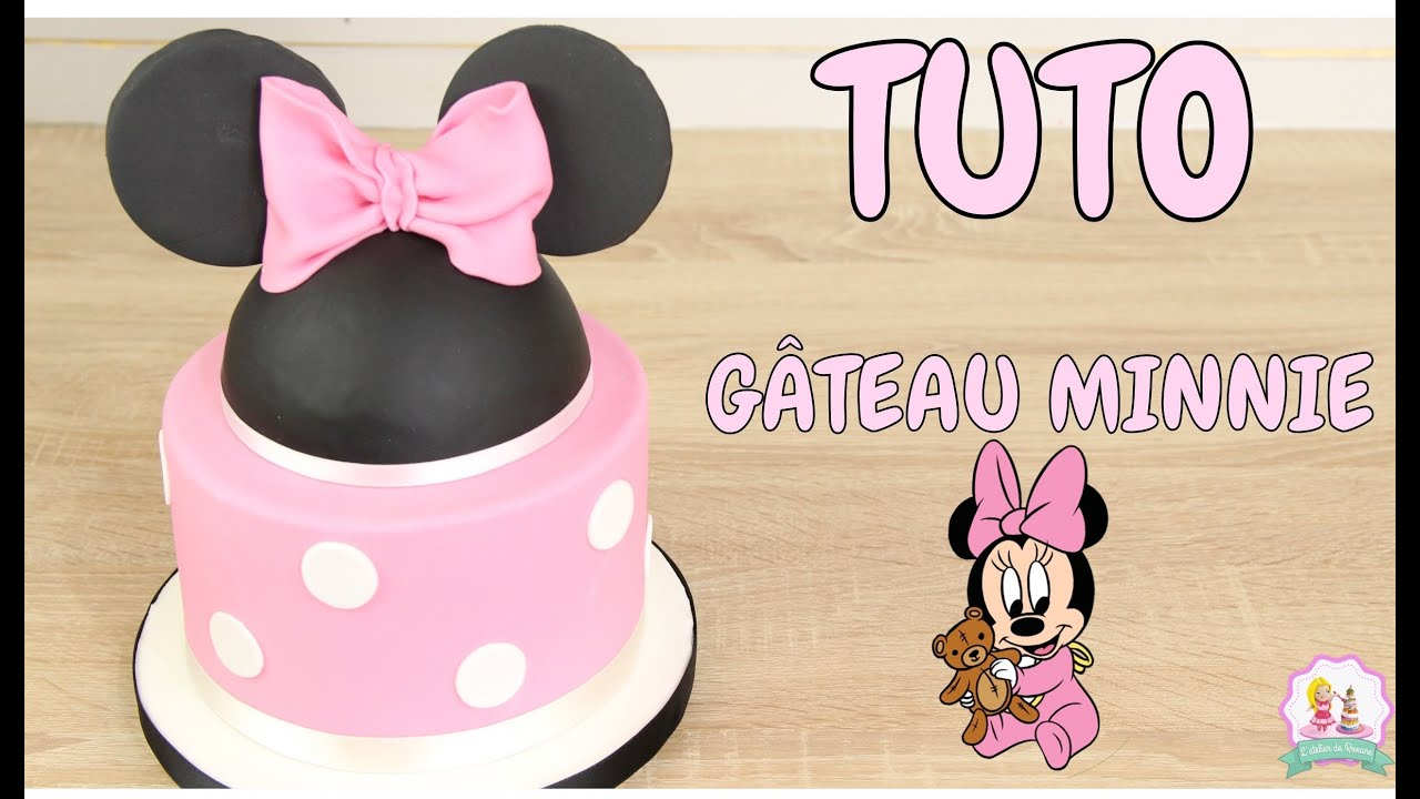 gateau d 39 anniversaire minnie pate a sucre decoration gateau cake design youtube. Black Bedroom Furniture Sets. Home Design Ideas