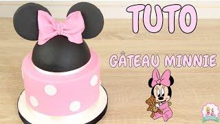 ♡• GATEAU D'ANNIVERSAIRE MINNIE PATE A SUCRE - DECORATION GATEAU CAKE DESIGN •♡