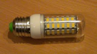 РЕМОНТ светодиодной (LED) лампы типа ''кукуруза'' Е27