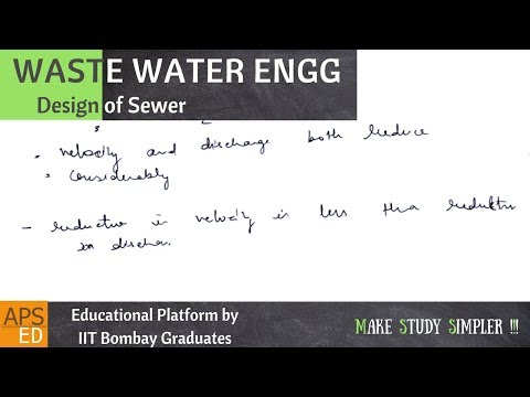 Design of Sewer | Waste Water Engineering