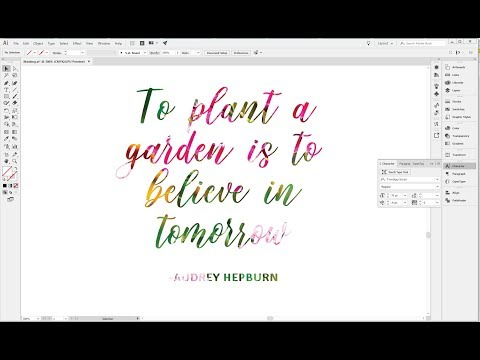 How to fill text with an image in Illustrator