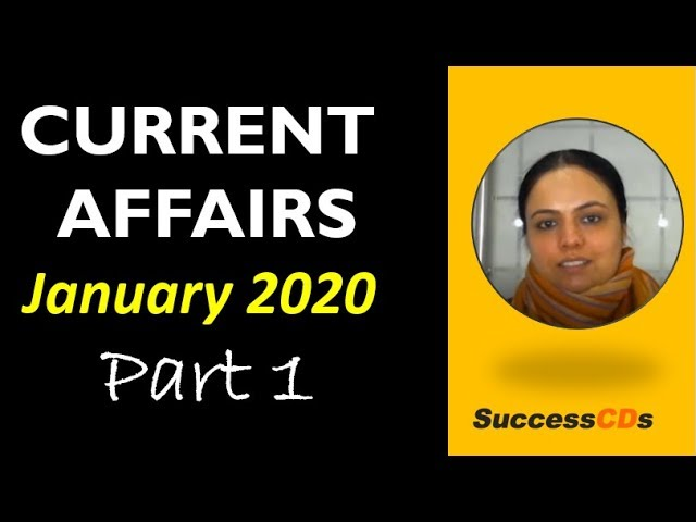 Latest GK January 2020 Part 1 - Latest Current Affairs - 1 to 15 Jan 2020 #latestgk #currentaffairs