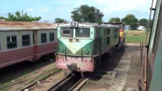 Cambodia Train Adventure 2009 RRC Toll Royal Railway of Cambodia Alstom diesel locomotive