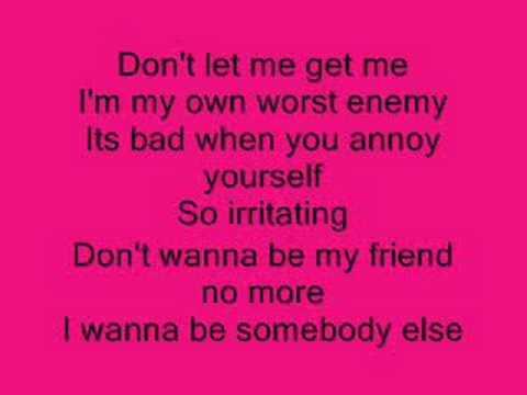 Don't Let Me Get Me - Pink with Lyrics!