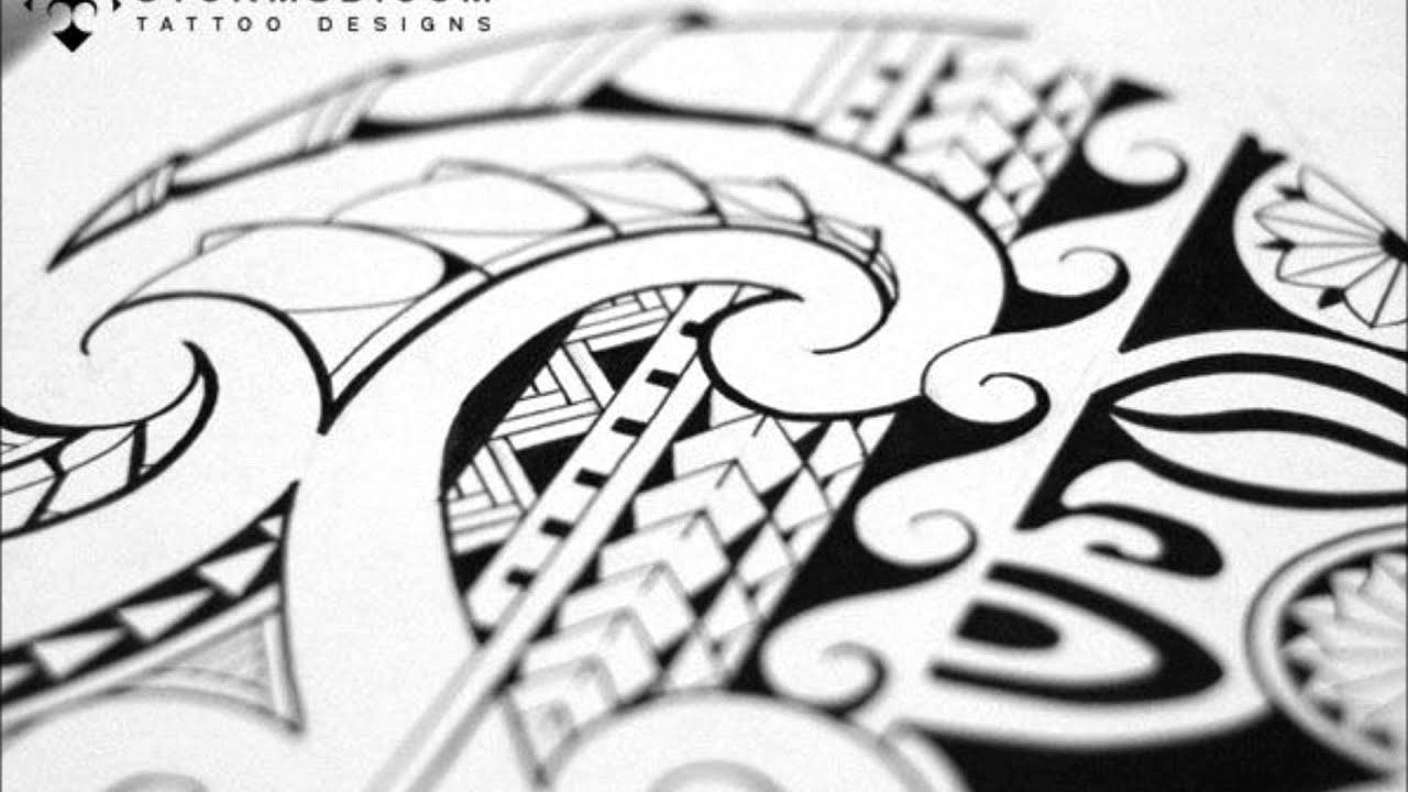 de45dcf69 Drawing a Maori/Polynesian shouldercap tattoo - YouTube