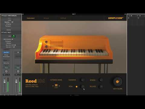 Reed106 - Modelled Reed Electric Piano by Sampleson. Sound and preset test.