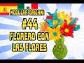 3D Origami modular #44 - FLORERO CON LAS FLORES