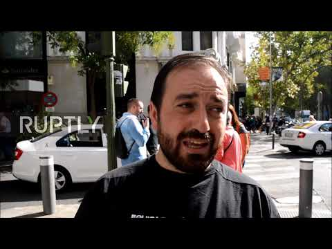 Spain: National police and civil guard protest in Madrid for better pay