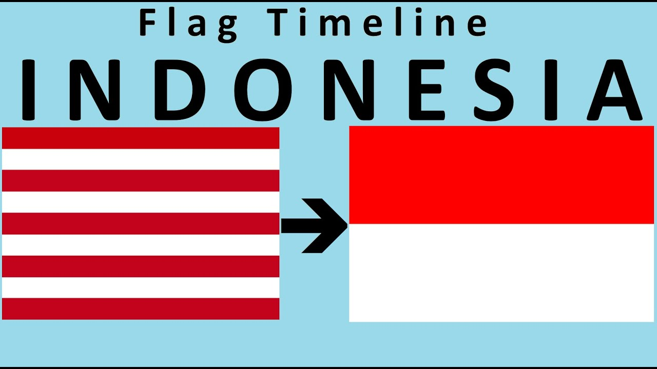 Historical Flags Of Indonesia With National Anthem Of Indonesia Youtube