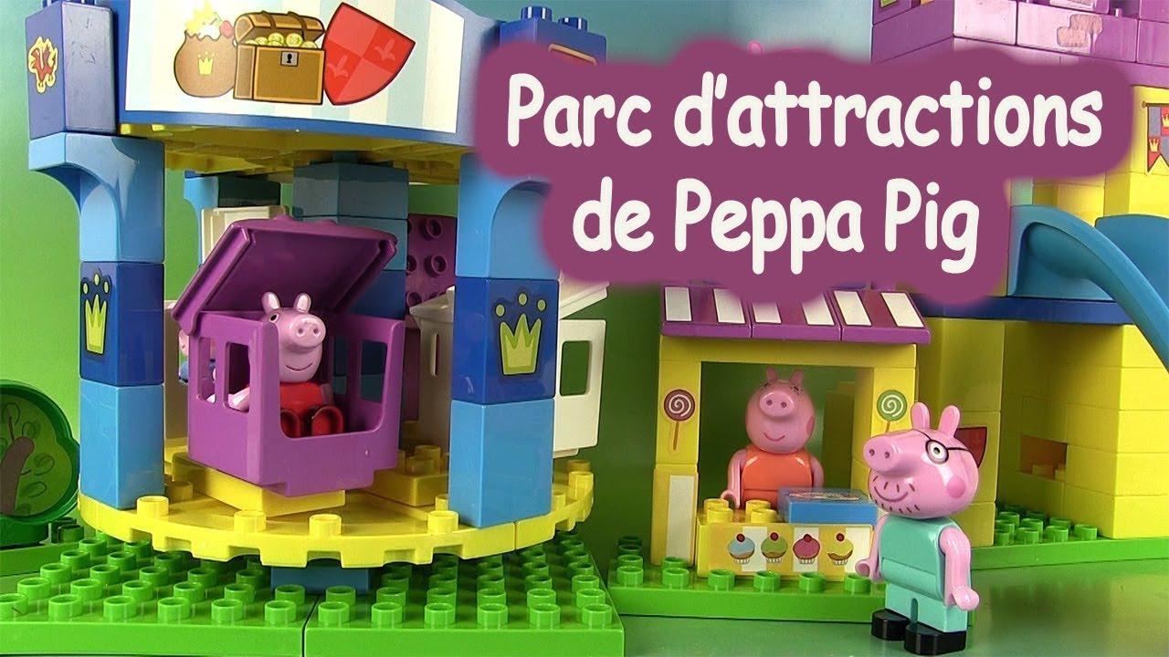 peppa pig blocks jeu de construction parc d attractions mega amusement park set youtube. Black Bedroom Furniture Sets. Home Design Ideas