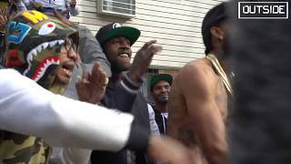 Nipsey Hussle Live In Brooklyn , New York - Rap Niggas ( BTS ) OUTSIDE W PVNCH
