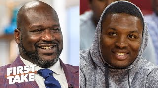 Shaq or Damian Lillard: Who's winning the rap battle? | First Take Video