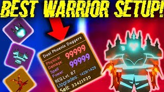 NEW *STRONGEST* WARRIOR LOADOUT IN THE UNDERWORLD! (ROBLOX DUNGEON QUEST)