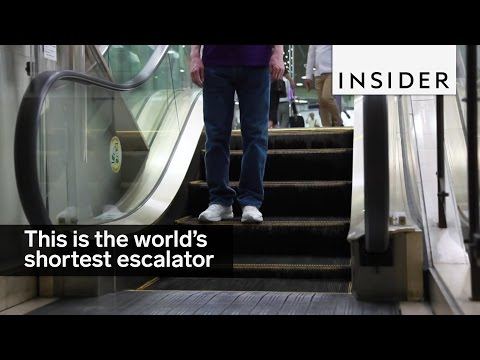 This is the world's shortest escalator