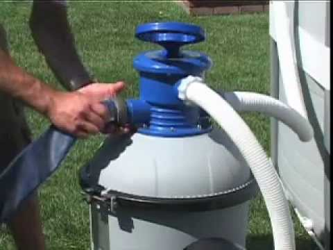 Intex sand filter pump for swimming pools 10 030 lph intx56672 youtube - Sandfilterpumpe fur pool ...