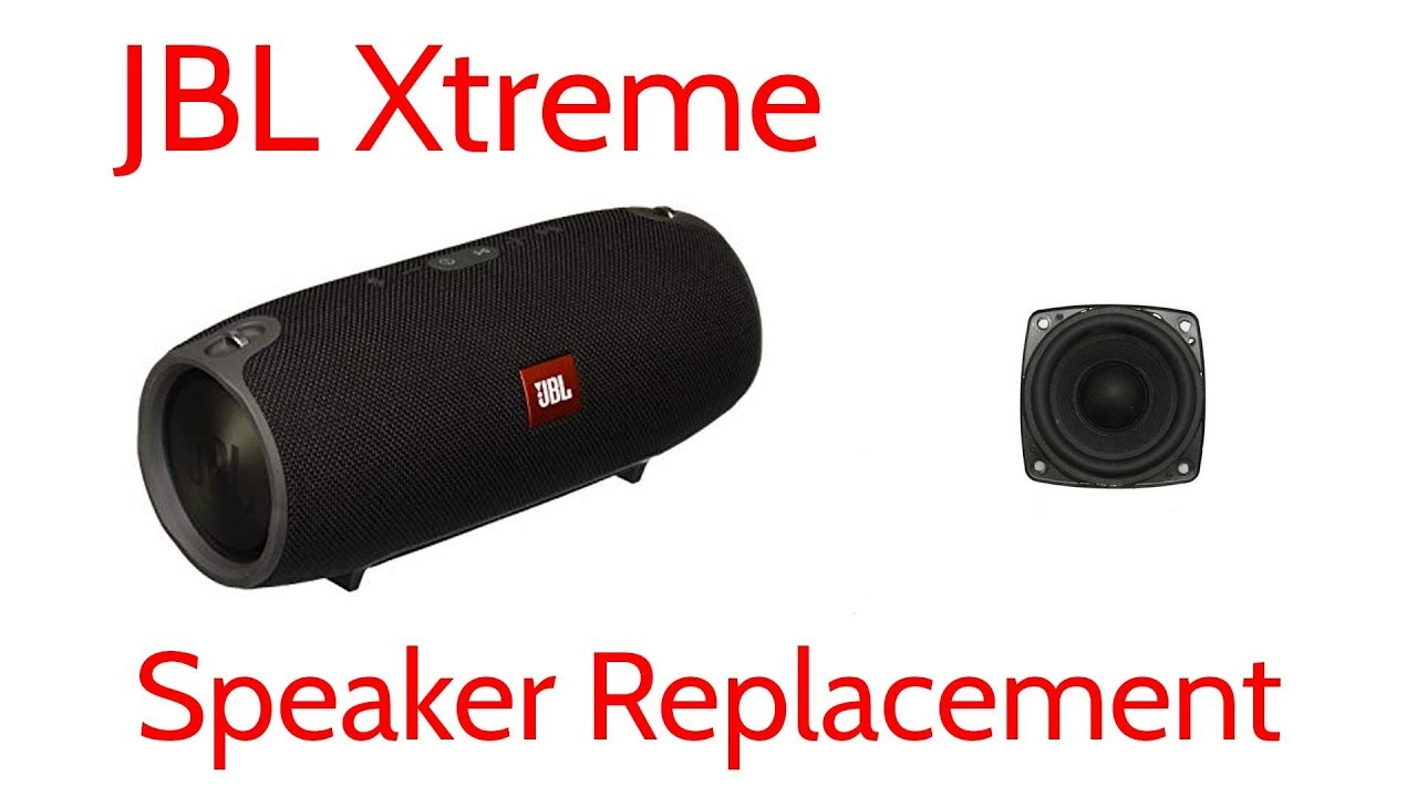 JBL Xtreme Blown Bad Muffled Speaker Replacement