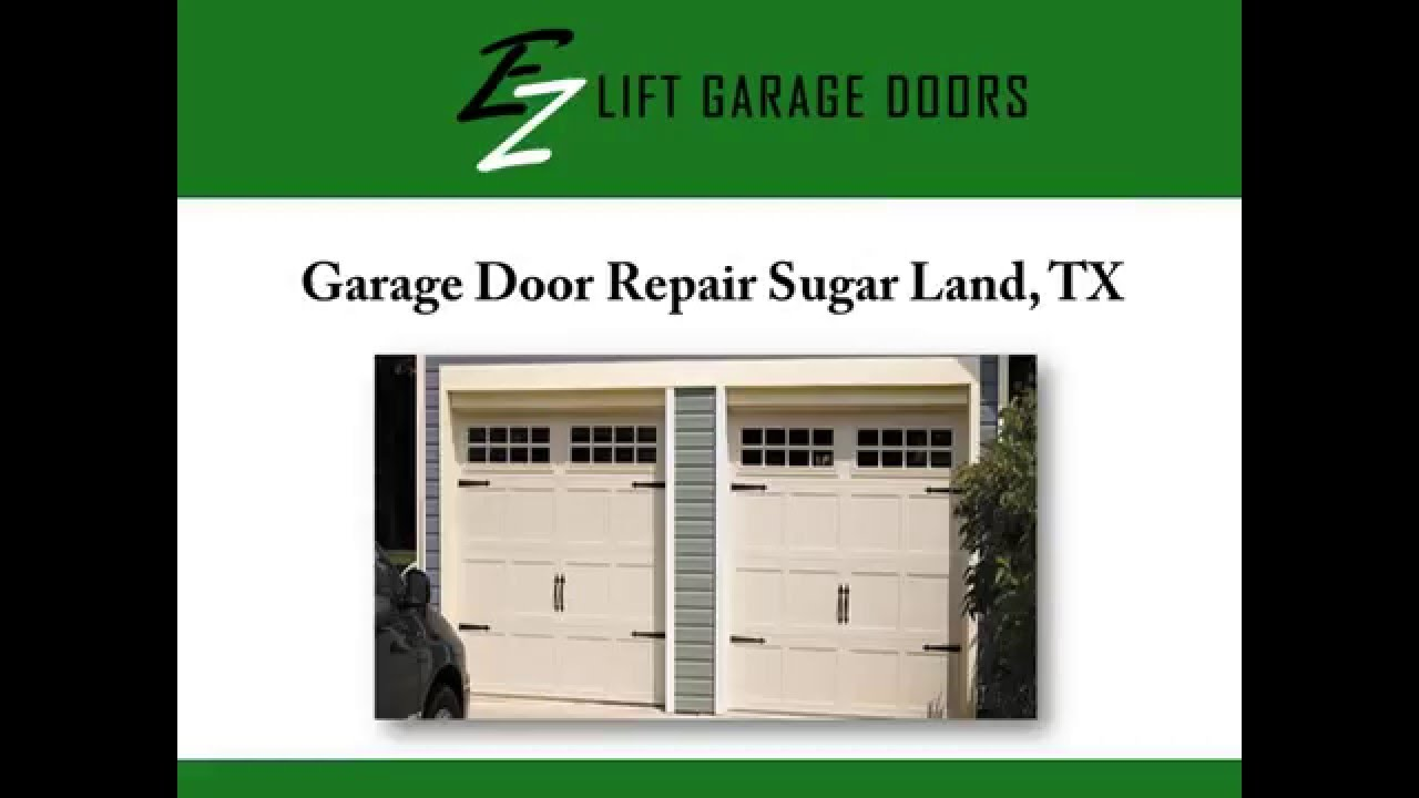 Garage Door Repair Sugar Land Tx Youtube