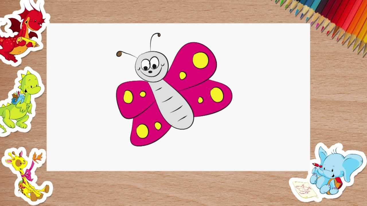 drawing for children how to draw a butterfly episode 2 youtube - Picture For Drawing For Children